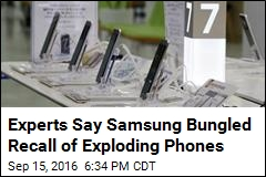 Experts Say Samsung Bungled Recall of Exploding Phones