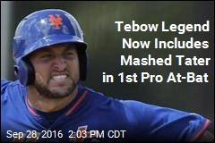 Tim Tebow Gets Home Run in 1st Pro At-Bat