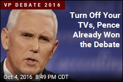 Turn Off Your TVs, Pence Already Won the Debate