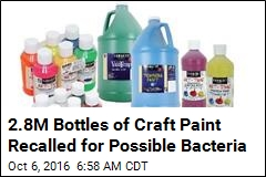 2.8M Bottles of Craft Paint Recalled for Possible Bacteria