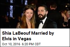 Shia LaBeouf Married by Elvis in Vegas