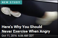 Exercising When Angry Triples Heart Attack RIsk