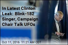 In Latest Clinton Leak: Blink-182 Singer, Campaign Chair Talk UFOs