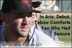 Tebow Comforts Ill Fan in Arizona League Debut