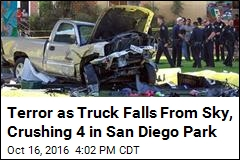 Truck Flies Off Overpass, Crushes 4 in Park Below