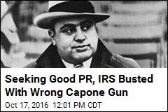 Seeking Good PR, IRS Busted With Wrong Capone Gun