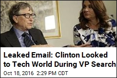 Clinton Campaign Considered Bill Gates, Tim Cook for VP