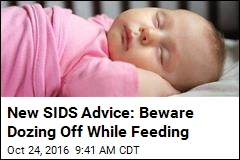 New SIDS Advice: Beware Dozing Off While Feeding