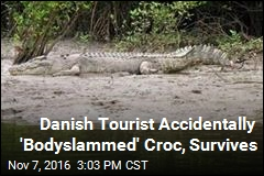 Backpacker Slips, Falls on Croc, Lives to Tell Tale