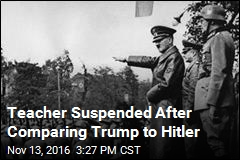 Teacher Suspended After Comparing Trump to Hitler