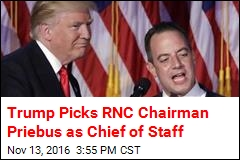 Trump Picks RNC Chairman Priebus as Chief of Staff
