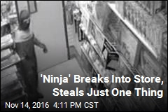 'Ninja' Breaks Into Store, Steals Just One Thing