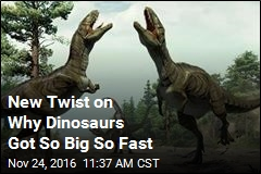 New Twist on Why Dinosaurs Got So Big So Fast