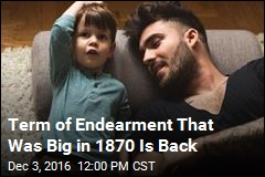 Term of Endearment That Was Big in 1870 Is Back