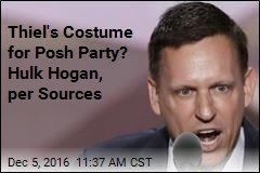 At Posh Party: Peter Thiel Dressed as Hulk Hogan
