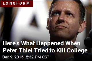 Peter Thiel Wanted Innovation, He Got Networking Instead
