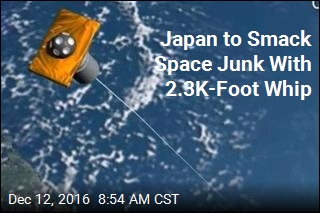 Japan to Smack Space Junk With 2.3K-Foot Whip