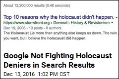 Google Not Fighting Holocaust Deniers in Search Results