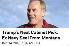 Former Navy SEAL Is Trump's Pick for Interior Secretary
