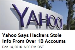 Yahoo Says Hackers Stole Info From Over 1B Accounts