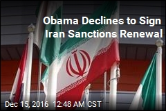 Obama Declines to Sign Iran Sanctions Renewal