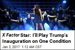 Rebecca Ferguson Will Play Inauguration on One Condition