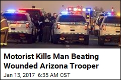 Motorist Kills Man Beating Wounded Arizona Trooper