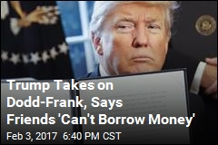 Trump Launches Attack on Banks' Financial Restraints