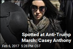 Spotted at Anti-Trump March: Casey Anthony