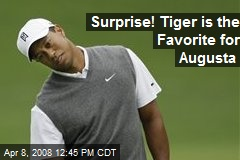 Surprise! Tiger is the Favorite for Augusta