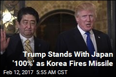 Trump Stands With Japan '100%' as Korea Fires Missile