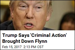 Trump Says 'Criminal Action' Brought Down Flynn