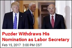 Puzder Withdraws Nomination for Labor Secretary