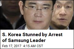 Samsung Leader Arrested in Corruption Scandal