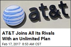AT&T Joins All Its Rivals With an Unlimited Plan