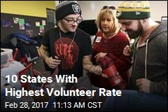 10 States With Highest Volunteer Rate