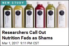 Researchers Call Out Nutrition Fads as Shams