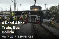 4 Dead After Train, Bus Collide