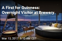 A First for Guinness: Overnight Visitor at Brewery