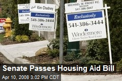 Senate Passes Housing Aid Bill