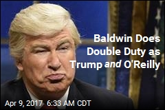 Baldwin Does Double Duty as Trump and O'Reilly