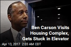 Ben Carson Visits Housing Complex, Gets Stuck in Elevator