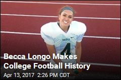 1st Woman Gets Scholarship to Play Div. II College Football