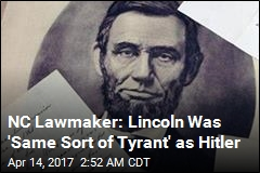 NC Lawmaker Compares Lincoln to Hitler