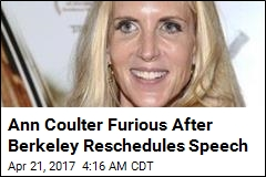 Berkeley Says Ann Coulter Can Talk ... on Different Day
