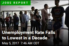 Unemployment Rate Falls to Lowest in a Decade