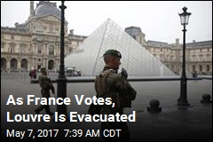 As France Votes, Louvre Is Evacuated