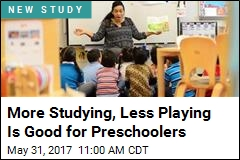 More Studying, Less Playing Is Good for Preschoolers