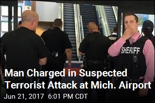 Man Charged in Suspected Terrorist Attack at Mich. Airport