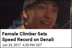 Female Climber Sets Speed Record on Denali
